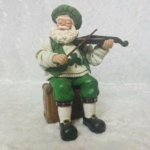Irish Santa Claus Playing Violin Music Box When Ir